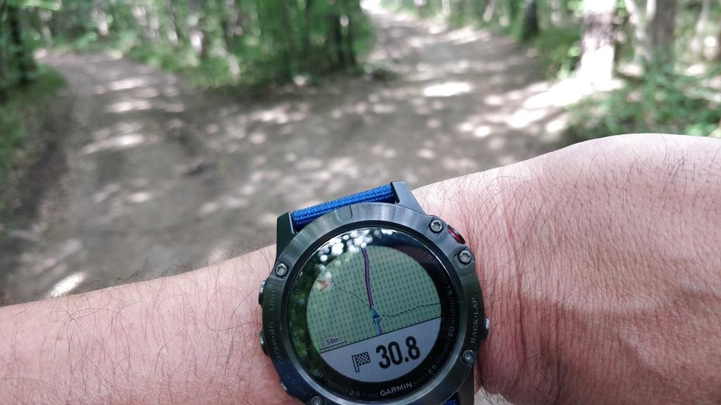 Navigation mit der Fenix 5X am Lindkogeltrail