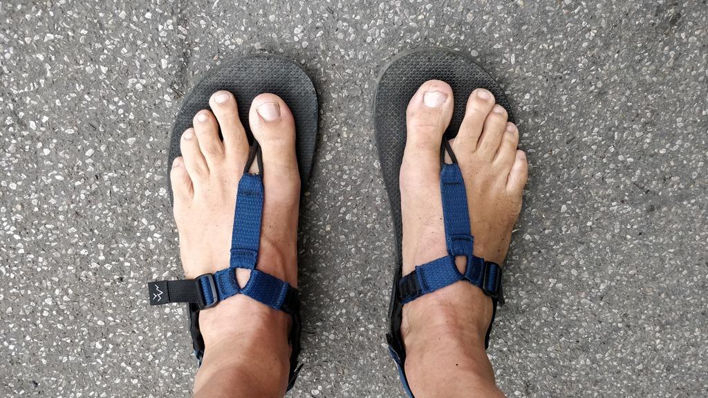 Bedrock Sandals am Vienna Trail Run