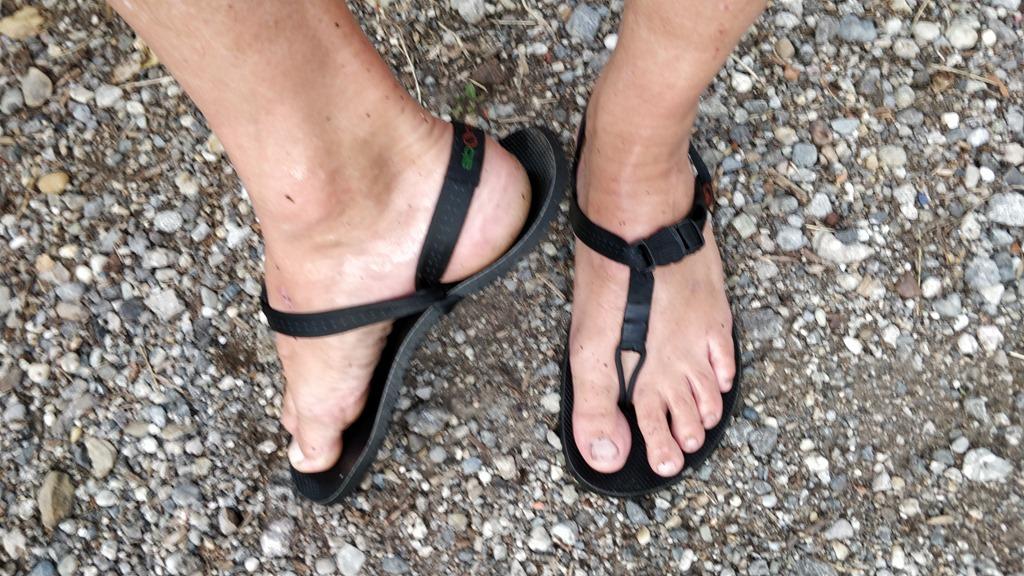 Ersteindruck Aborigen Totem Sandale